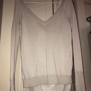 Lululemon High-low Sweater w/ Cute Back Design